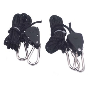 18 inch Heavy Duty Adjustable Grow Light Rope Hanger for Grow Light Fixtures & Gardening