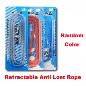 Big Discount Retractable Rangefinder Lanyard - Anti slip retractable rope for Fishing rod / Anti falling retractable rope for fishing / Hanging buckle automatic telescopic anti lost steel wire ...