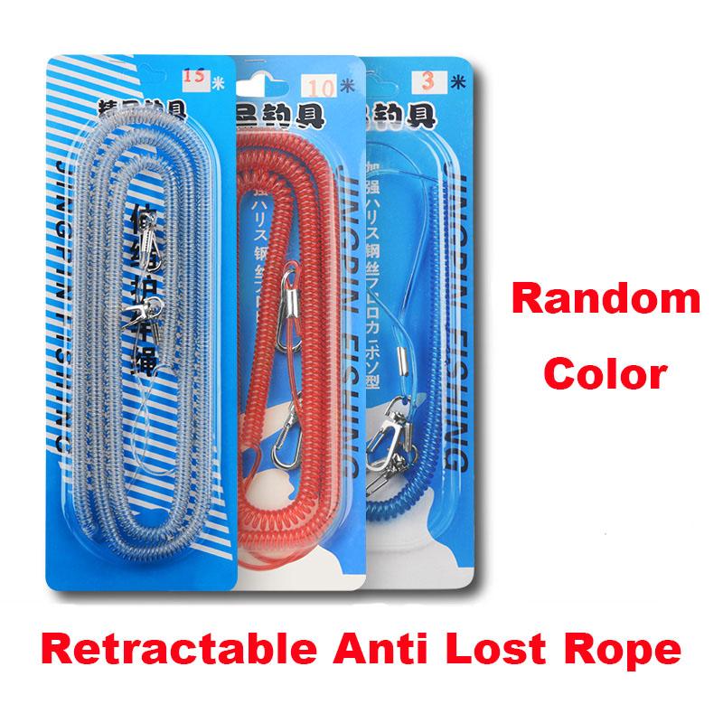 Anti slip retractable rope for Fishing rod / Anti falling retractable rope for fishing / Hanging buckle automatic telescopic anti lost steel wire