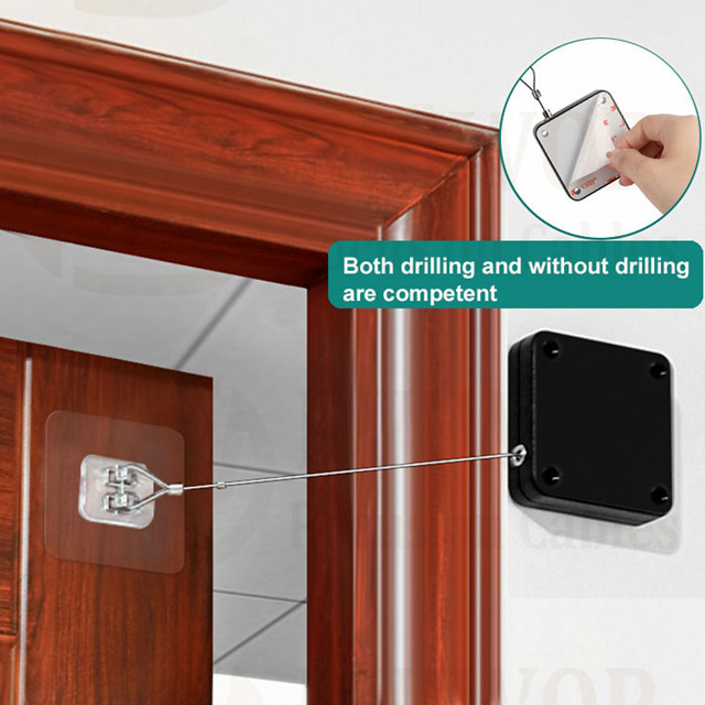 Punch-free Automatic Sensor Door Closer Portable Home Office Doors Off