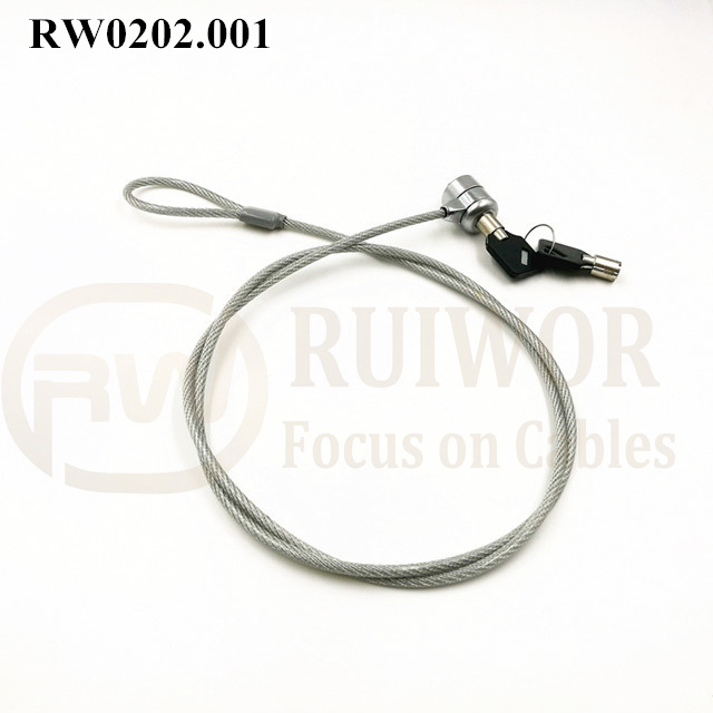 RW0202.001 unique & one-to-one correspondence Metal key Laptop anti theft cable lock