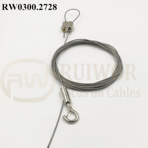 RW0300.2728 Ceiling cable fixing with adjustable hook Kit includes screw-on ceiling fixing & one adjustable hook 5 meters cable