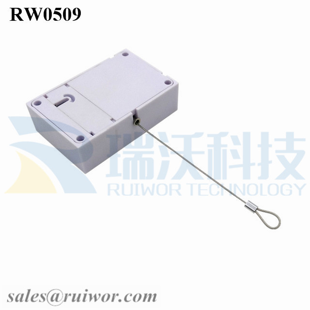 RW0509 Anti Theft Pull Box with Size Customizable and Fixed Loop End for Retail Product Display Protection