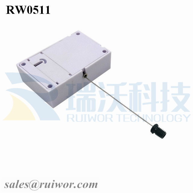 RW0511 Cuboid Anti Theft Pull Box with M6x8MM or M8x8MM or Customized Flat Head Screw Cable End Used for Product Positioning