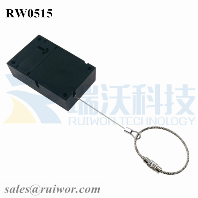 RW0515 Cuboid Anti Theft Pull Box With Size Customizable Wire Rope Ring Catch