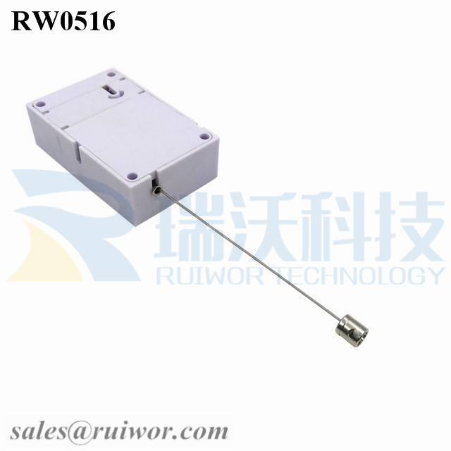 RW0516 Cuboid Anti Theft Pull Box with Side Hole Hardwar Cable End Used for Product Positioning