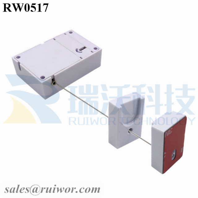 RW0517 Cuboid Anti Theft Pull Box with Magnetic Clasps Holder End for Mobile Phone Retail Security Display