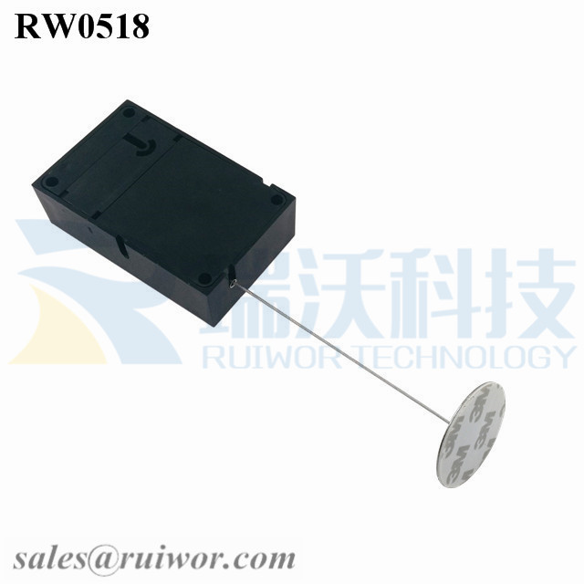 RW0518 Cuboid Anti Theft Pull Box with Dia 38mm Circular Sticky metal Plate Factory Wholesale Security Solution