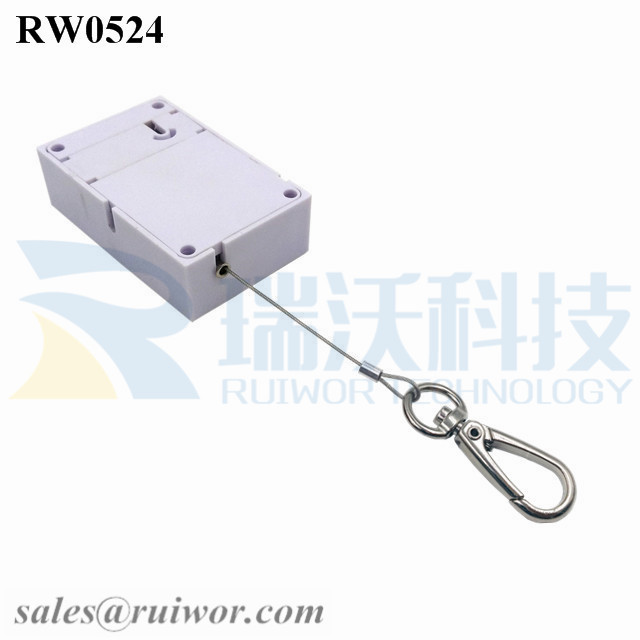RW0524 Cuboid Anti Theft Pull Box with Key Hook Cable End