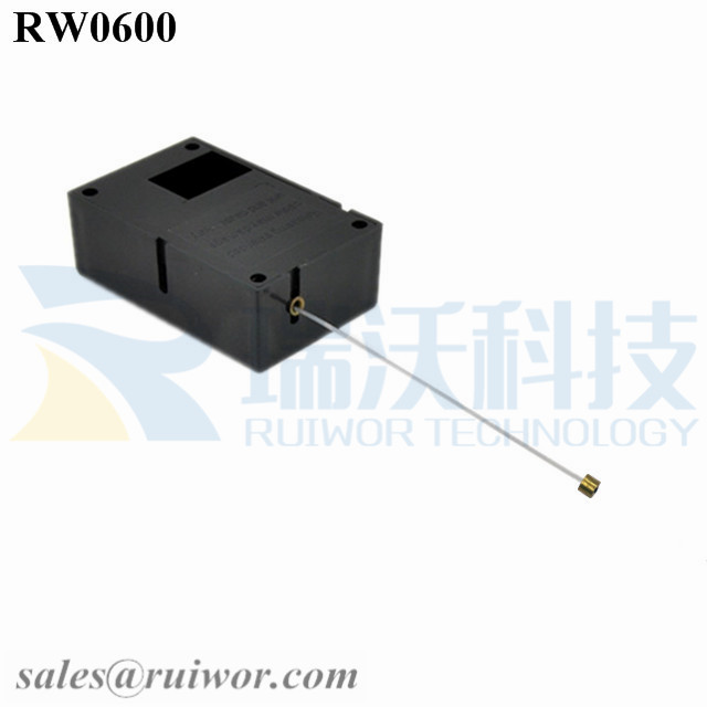 RW0600 Cuboid Ratcheting Retractable Cable Plus Stop Function Worked Cord End for Retail Product Advertising Display Featured Image