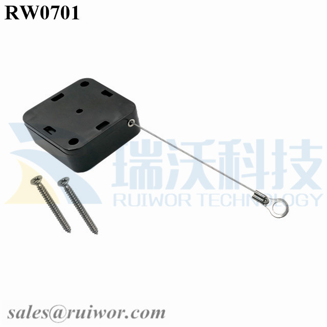 RW0701 Square Retractable Cable Plus Ring Terminal Inner Hole 3mm 4mm 5mm for Option