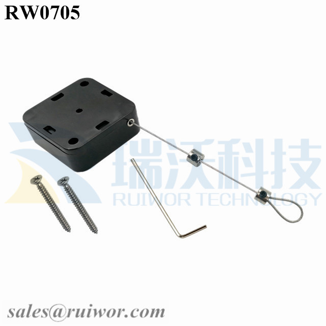 RW0705 Square Retractable Cable Plus Adjustalbe Lasso Loop End by Small Lock and Allen Key Featured Image