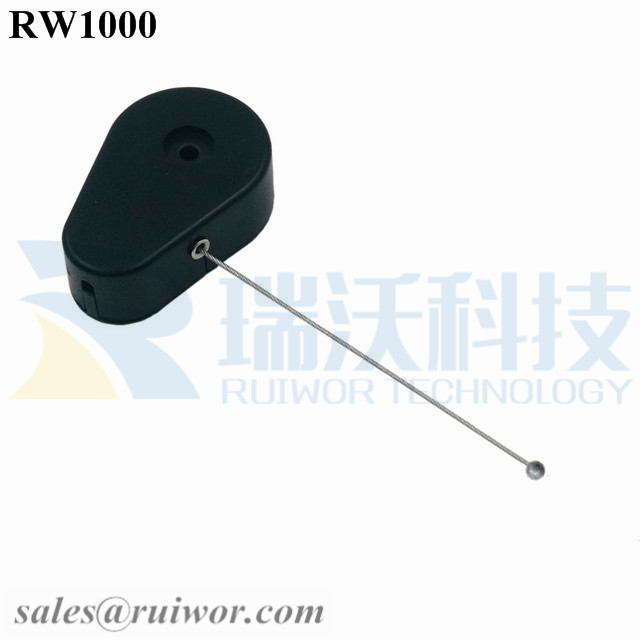 RW1000 Drop-shaped Retractable Security Tether with Connectors for Several Product Positioning Display