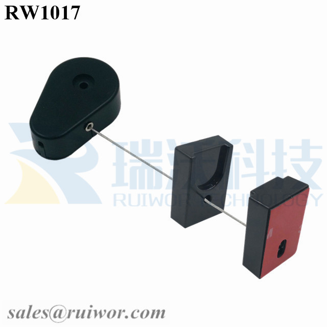 RW1017 Drop-shaped Retractable Security Tether Plus Magnetic Clasps Cable Hoder for Mobile Phone Retail Display