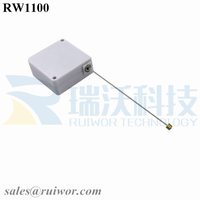 RW1100 Square Retail Security Tether Work with Cable End Apply in Various Products Retractable Security Harness