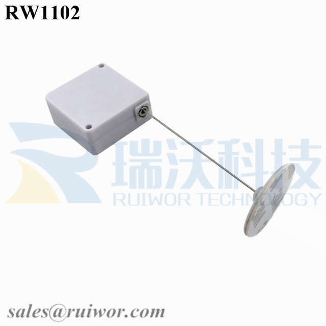 RW1102 Square Retail Security Tether Plus Dia 30mm Circular Adhesive ABS Plate as Mobile Phone Security Solutions