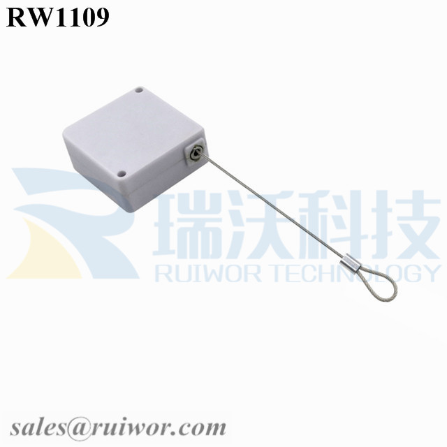 RW1109 Square Retail Security Tether Plus Size Customizable Fixed Loop End