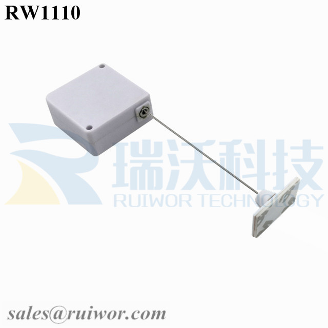 RW1110 Square Retail Security Tether Plus 25X15mm Rectangular Adhesive ABS Plate Used in Design Organizations