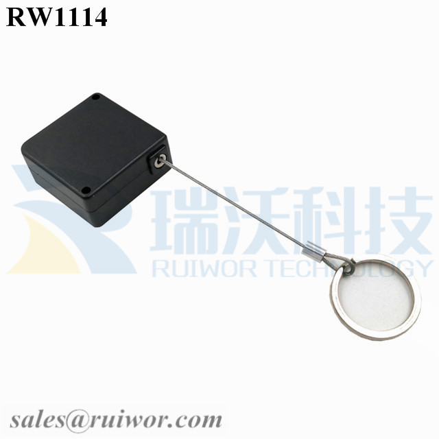 RW1114 Square Retail Security Tether Plus with Demountable Key Ring