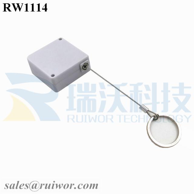 RW1114 Square Retail Security Tether Plus with Demountable Key Ring