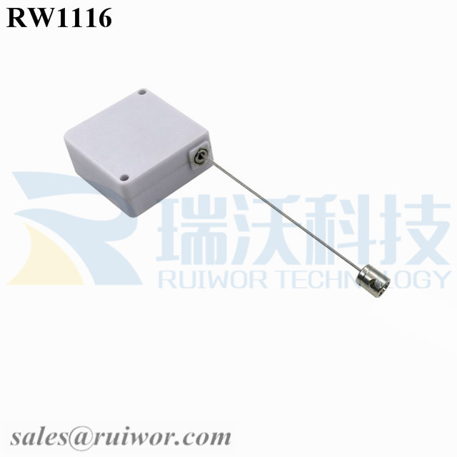 RW1116 Square Retail Security Tether Plus Side Hole Hardwar