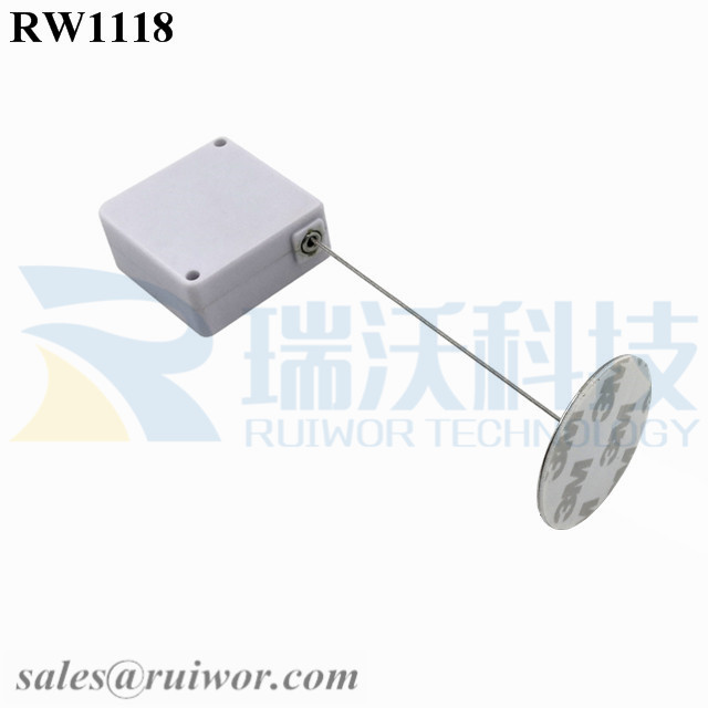 RW1118 Square Retail Security Tether Plus Dia 38mm Circular Sticky metal Plate Used in Security Solutions