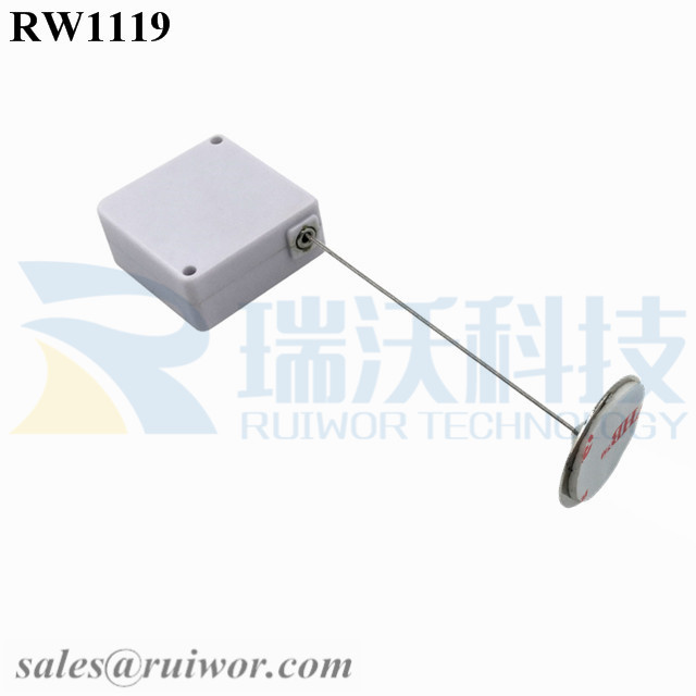 RW1119 Square Retail Security Tether Plus Dia 22mm Circular Sticky metal Plate