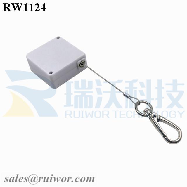 RW1124 Square Retail Security Tether Plus Key Hook