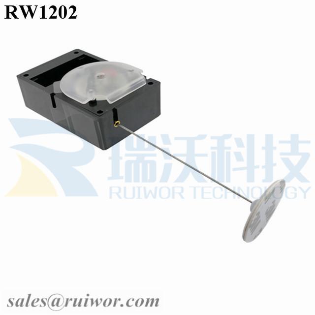 RW1202 Cuboid Alarmed Pull Box Plus Dia 30mm Circular Adhesive ABS Plate