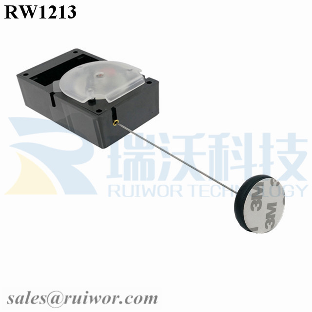 RW1213 Cuboid Alarmed Pull Box Plus Dia 30MMx5.5MM Circular Adhesive ABS Block