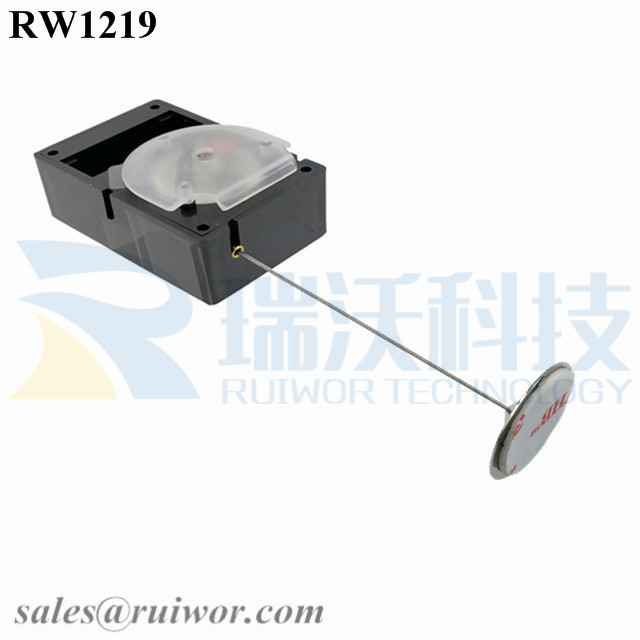 RW1219 Cuboid Alarmed Pull Box Plus Dia 22mm Circular Sticky metal Plate