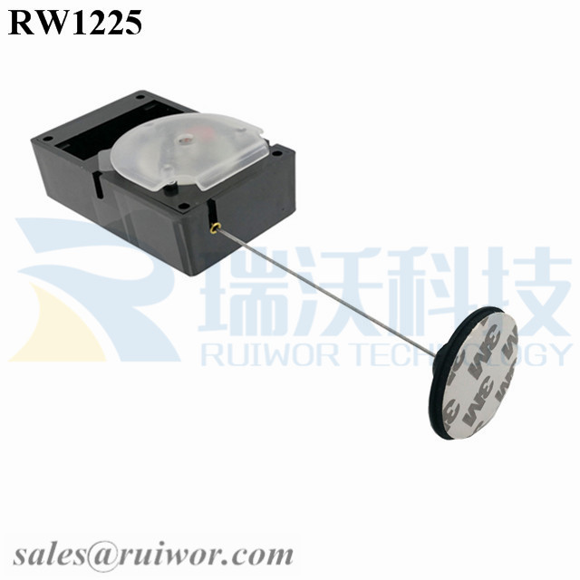 RW1225 Cuboid Alarmed Pull Box Plus Dia 38mm Circular Adhesive Plastic Plate