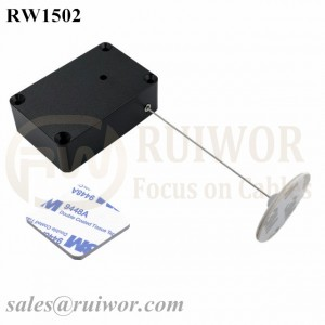 RW1502 Cuboid Multifunctional Retractable Cable with Dia 30mm Circular Adhesive ABS Plate for Store Security Product Position