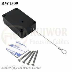 RW1509 Cuboid Multifunctional Retractable Cable with Size Customizable and Fixed Loop End for Retail Product Display Protection