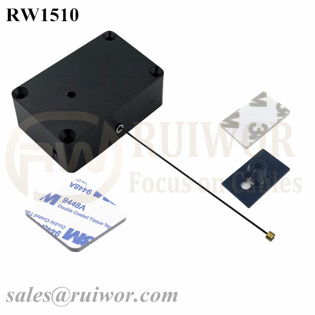 RW1510 Cuboid Multifunctional Retractable Cable with 25X15mm Rectangular Adhesive ABS Plate Used in Consumer Electronics Products Stores Featured Image