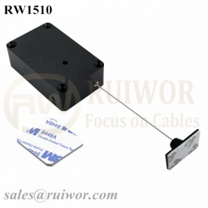 RW1510 Cuboid Multifunctional Retractable Cable with 25X15mm Rectangular Adhesive ABS Plate Used in Consumer Electronics Products Stores