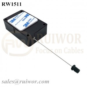 RW1511 Cuboid Multifunctional Retractable Cable with M6x8MM or M8x8MM or Customized Flat Head Screw Cable End Used for Product Positioning
