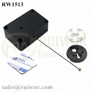RW1513 Cuboid Multifunctional Retractable Cable with Dia 30MMx5.5MM Circular Adhesive ABS Block