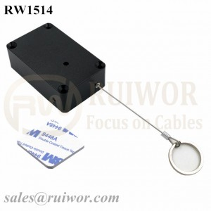 RW1514 Cuboid Multifunctional Retractable Cable with Demountable Key Ring for Retail Product Positioning