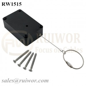 RW1515 Cuboid Multifunctional Retractable Cable With Size Customizable Wire Rope Ring Catch