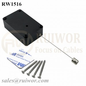 RW1516 Cuboid Multifunctional Retractable Cable with Side Hole Hardwar Cable End Used for Product Positioning