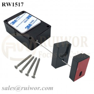 RW1517 Cuboid Multifunctional Retractable Cable with Magnetic Clasps Holder End for Mobile Phone Retail Security Display