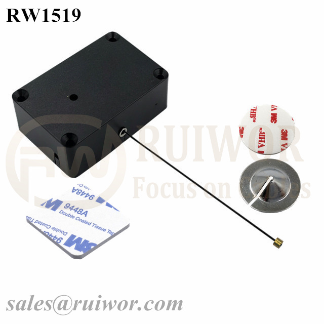 RW1519 Cuboid Multifunctional Retractable Cable with Dia 22mm Circular Sticky metal Plate Used in Consumer Electronics Store Featured Image