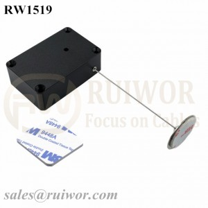 RW1519 Cuboid Multifunctional Retractable Cable with Dia 22mm Circular Sticky metal Plate Used in Consumer Electronics Store