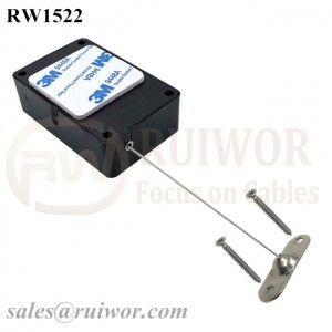 RW1522 Cuboid Multifunctional Retractable Cable with 10x31MM Two Screw Perforated Oval Metal Plate Connector Installed by Screw