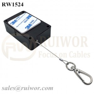 RW1524 Cuboid Multifunctional Retractable Cable with Key Hook Cable End