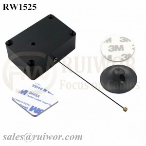 RW1525 Cuboid Multifunctional Retractable Cable with Dia 38mm Circular Adhesive Plastic Plate Connector