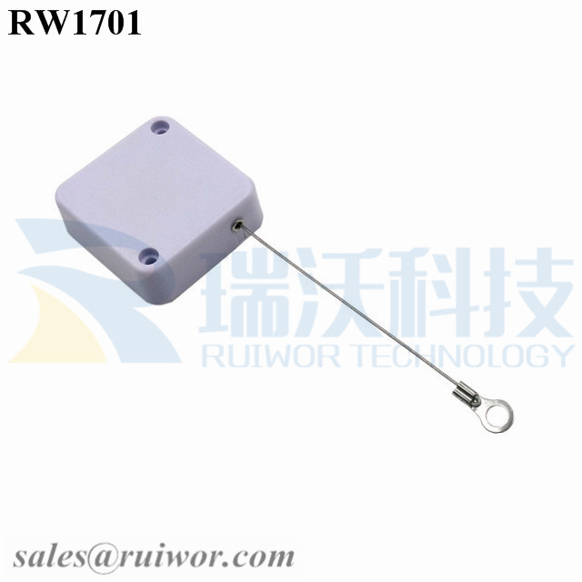 RW1701 Square Security Tether with Ring Terminal Inner Hole 3mm 4mm 5mm for Option