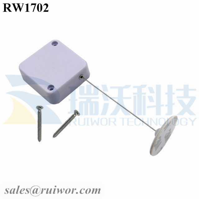 RW1702 Square Security Tether Plus Dia 30mm Circular Adhesive ABS Plate with High Quality and Low Price