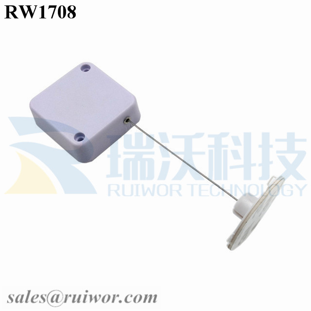 RW1708 Square Security Tether Plus Dia 38mm Circular Sticky Flexible ABS Plate for Cambered Surface Products